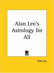 Cover of: Alan Leo's Astrology for All | Alan Leo