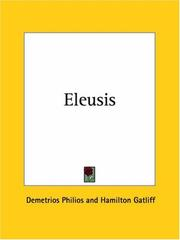 Cover of: Eleusis | Demetrios Philios