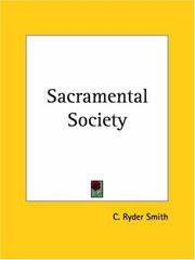 Cover of: Sacramental Society | C. Ryder Smith