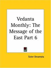 Cover of: Vedanta Monthly | Sister Devamata