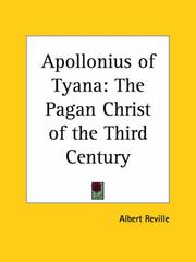 Cover of: Apollonius of Tyana | Albert Reville