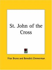 Cover of: St. John of the Cross | Friar Bruno
