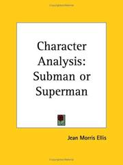 Cover of: Character Analysis | Jean Morris Ellis