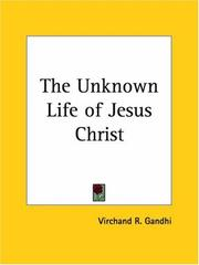 Cover of: The Unknown Life of Jesus Christ | Virchand R. Gandhi