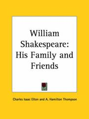 Cover of: William Shakespeare | Charles I. Elton