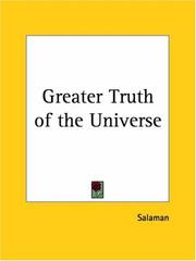 Cover of: Greater Truth of the Universe | Salaman