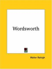 Cover of: Wordsworth | Walter Raleigh