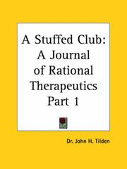 Cover of: A Stuffed Club, Part 1 | J. H. Tilden