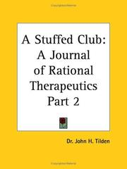 Cover of: A Stuffed Club, Part 2 | J. H. Tilden