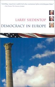 Cover of: Democracy in Europe | Larry Siedentop