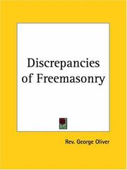 Cover of: Discrepancies of Freemasonry | George Oliver