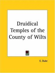 Cover of: Druidical Temples of the County of Wilts by E. Duke