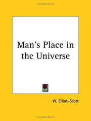 Cover of: Man's Place in the Universe | W. Elliot-Scott