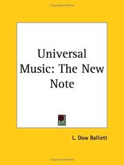 Cover of: Universal Music | L. Dow Balliett