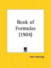 Cover of: Book of Formulas | John Hazelrigg