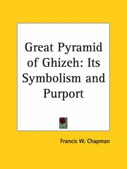 Cover of: Great Pyramid of Ghizeh | Francis W. Chapman