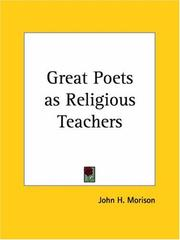 Cover of: Great Poets as Religious Teachers | John Hopkin Morison