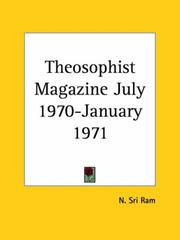Cover of: Theosophist Magazine July 1970-January 1971 | Sri Ram, N.