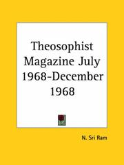 Cover of: Theosophist Magazine July 1968-December 1968 by Sri Ram, N.