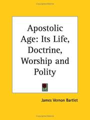 Cover of: Apostolic Age by James Vernon Bartlet