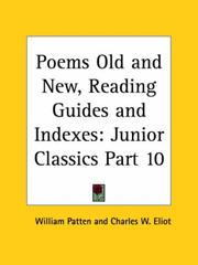 Cover of: Poems Old and New, Reading Guides and Indexes | Charles W. Eliot