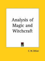 Cover of: Analysis of Magic and Witchcraft | C. W. Olliver
