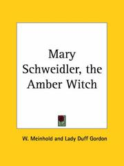 Cover of: Mary Schweidler, the Amber Witch | W. Meinhold