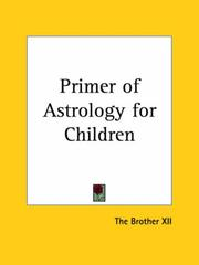Cover of: Primer of Astrology for Children | Brother XII The Brother XII