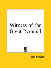 Cover of: Witness of the Great Pyramid by Basil Steward