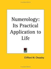 Cover of: Numerology | Clifford W. Cheasley