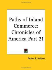 Cover of: Paths of Inland Commerce | Archer B. Hulbert