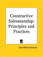 Cover of: Constructive Salesmanship by John Alford Stevenson