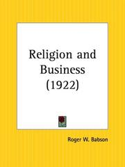 Cover of: Religion and Business by Roger W. Babson