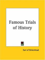 Cover of: Famous Trials of History | Frederick E. Birkenhead
