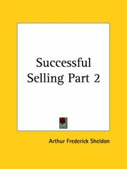 Cover of: Successful Selling, Part 2 | Arthur Frederick Sheldon