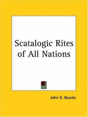 Cover of: Scatalogic Rites of all Nations by John Gregory Bourke