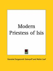 Cover of: Modern Priestess of Isis | Vsevolod Sergyeevich Solovyoff