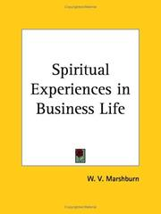 Cover of: Spiritual Experiences in Business Life | W. V. Marshburn