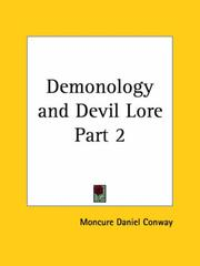 Cover of: Demonology and Devil Lore, Part 2 by Moncure D. Conway