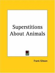 Cover of: Superstitions About Animals | Frank Gibson