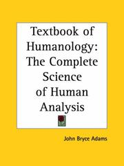 Cover of: Textbook of Humanology | John Bryce Adams