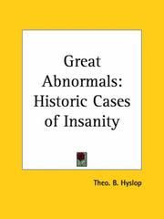Cover of: Great Abnormals by Theo B. Hyslop