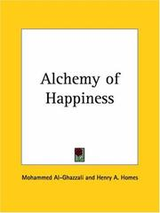 Cover of: Alchemy of Happiness by Mohammed Al-Ghazzali