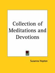 Cover of: Collection of Meditations and Devotions | Susanna Hopton