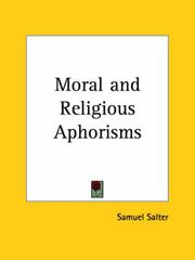 Cover of: Moral and Religious Aphorisms | Samuel Salter