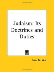 Cover of: Judaism | Isaac Mayer Wise