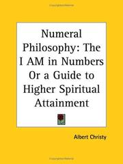 Cover of: Numeral Philosophy | Albert Christy