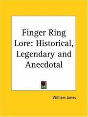 Cover of: Finger Ring Lore | William Jones