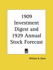 Cover of: Investment Digest and Annual Stock Forecast | W. D. Gann