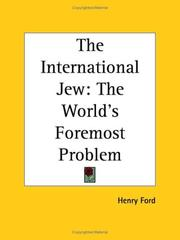 Cover of: The International Jew | Henry Ford Sr.